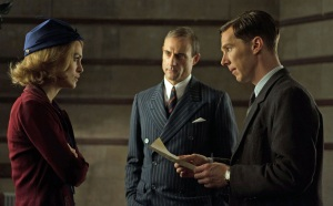 (from left to right) Keira Knightley, Mark Strong and Benedict Cumberbatch