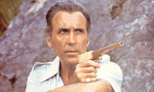 Christopher Lee as 'The Man with the Golden Gun'