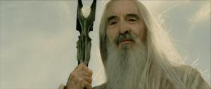 Lee as Saruman in 'Lord of the Rings'
