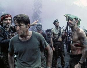 Dennis Hopper and Martin Sheen in 'Apocalypse Now'