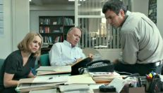 Rachel McAdams, Michael Keaton, and Mark Ruffalo in 'Spotlight'