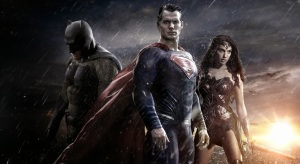Ben Affleck as Batman, Henry Cavill as Superman and Gal Gadot as Wonder Woman