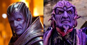Oscar Isaac as 'Apocalypse' (left) and Ivan Ooze from 'Power Rangers' (right, or is it the other way around)