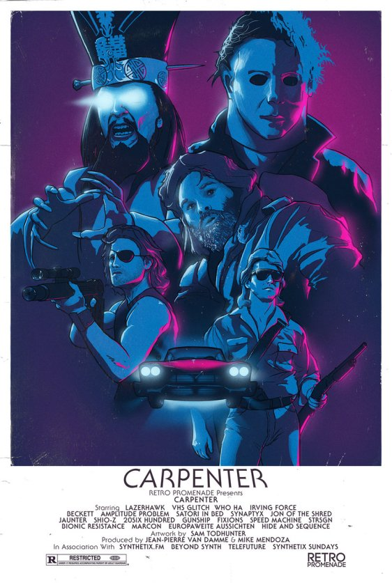 carpenter purple poster