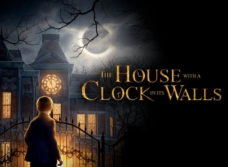 house with a clock